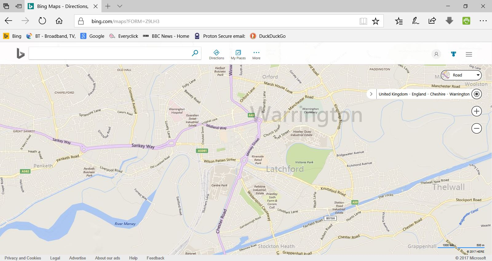 Modern Latchford Bing maps Capture