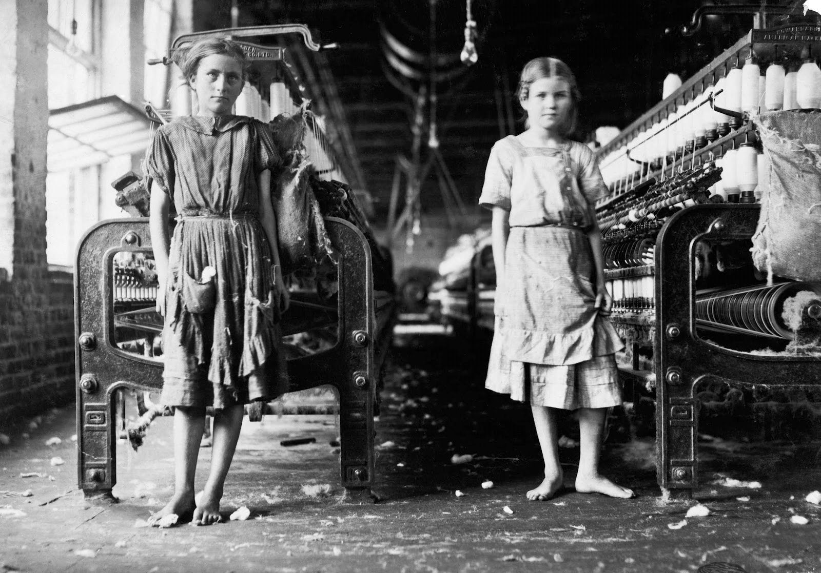 Lewis Hine Spinners in a cotton mill 1911