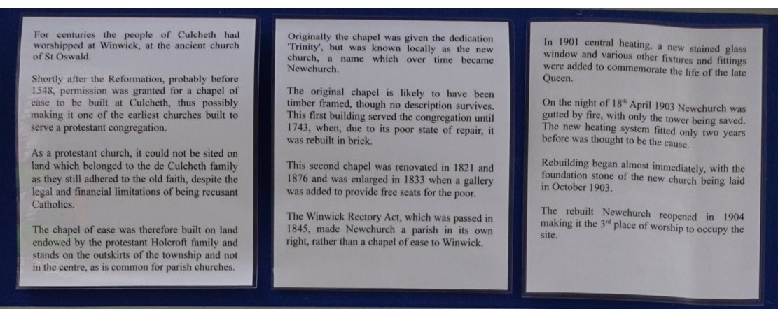 202 1 Newchurch information about the display