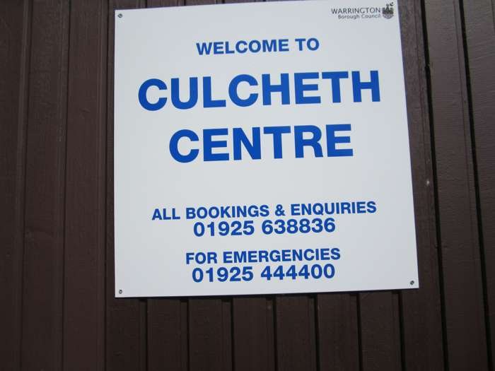 Culcheth Centre notice