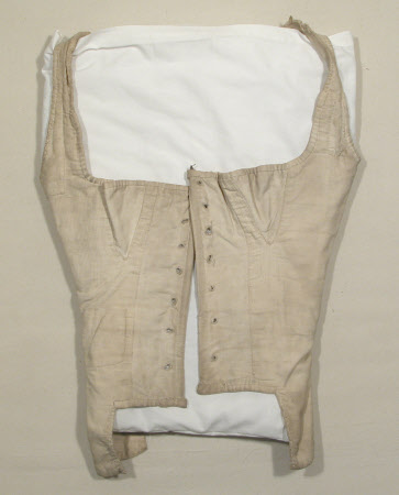 Corset Bodice 1800 1820 cotton National Trust Inventory Number 13501272