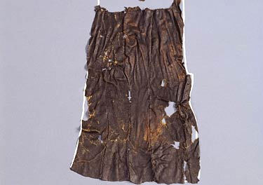 Loincloth Rectangular pieces of leather also from a goat stitched together with animal sinew fastened the waist with a belt South Tyrol Museum of Archaeology819200 orig