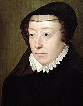 Catherine de Medici as widow c 1560s