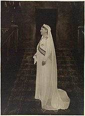 Queen Wilhelmina of the Netherlands in white mourning after the death of husband in 1934