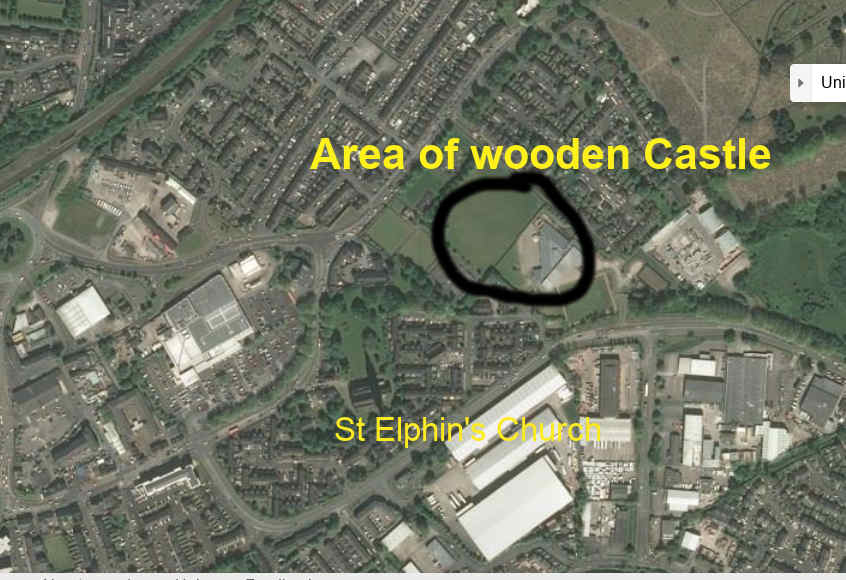 Castle area in behind St Elpins park JPG