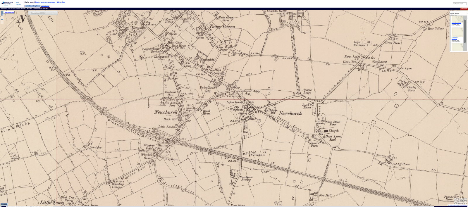 Culcheth 1900 OS map Screenshot 2019 02 28 18 50 46