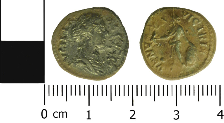 Silver denarius of Lucilla and Venus standing to left holding victory Liverpoolmuseums photo v0 large