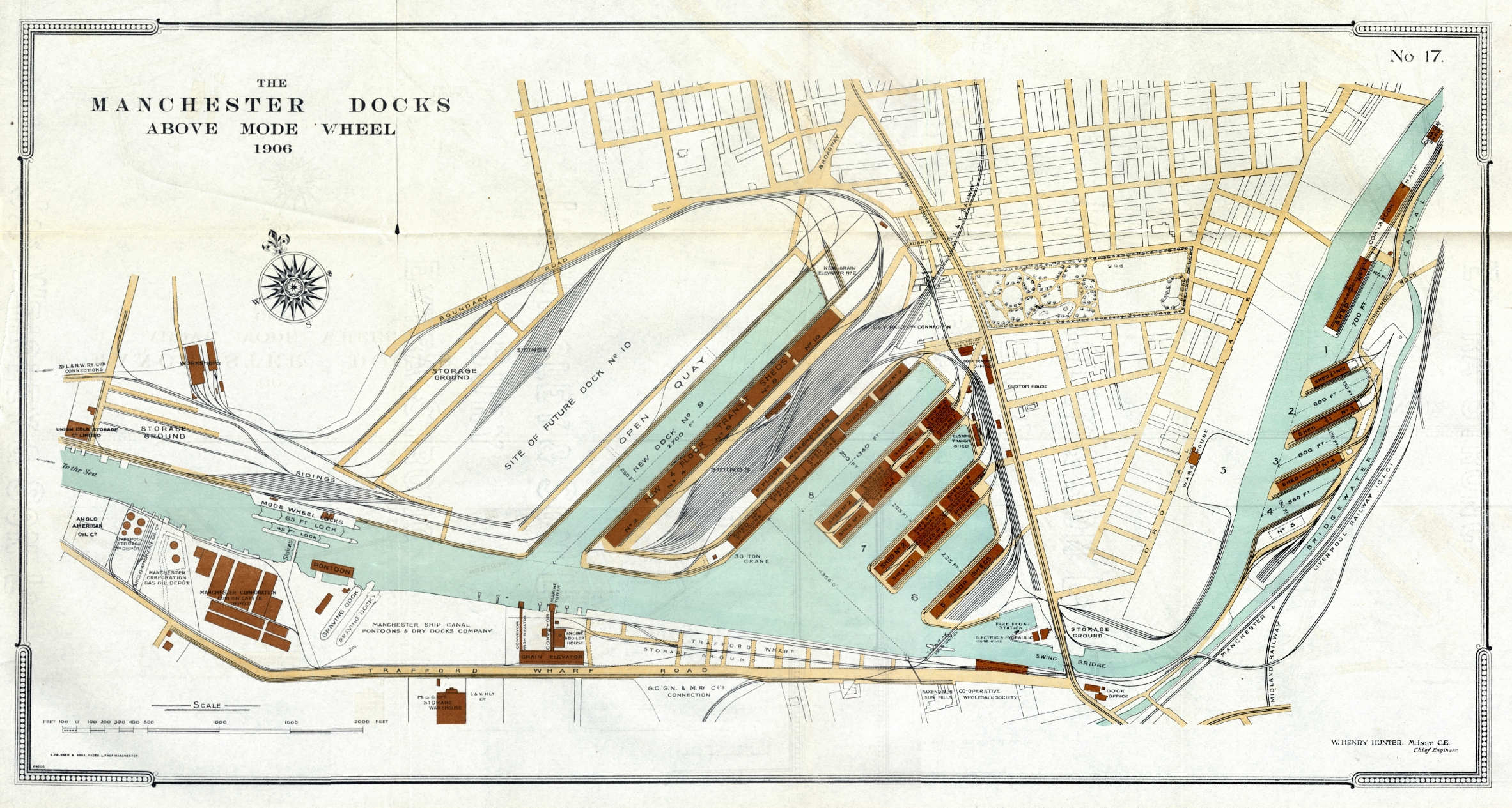 Manchester docks in Salford plan