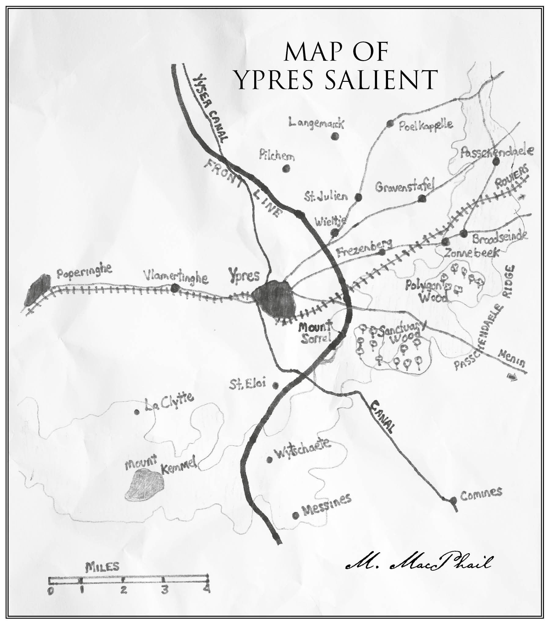 M Marcel phail Map of Ypres salient 1914 Maps5