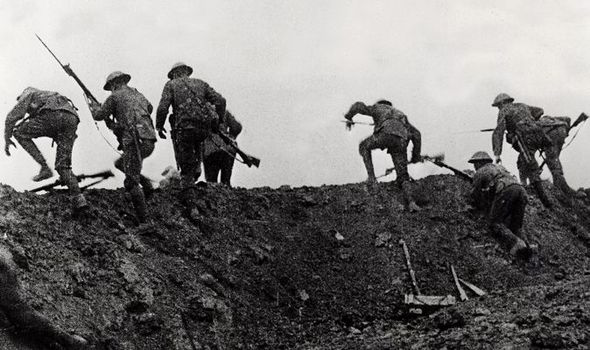 Over the top.A  later  image from battle of the somme photo 453721