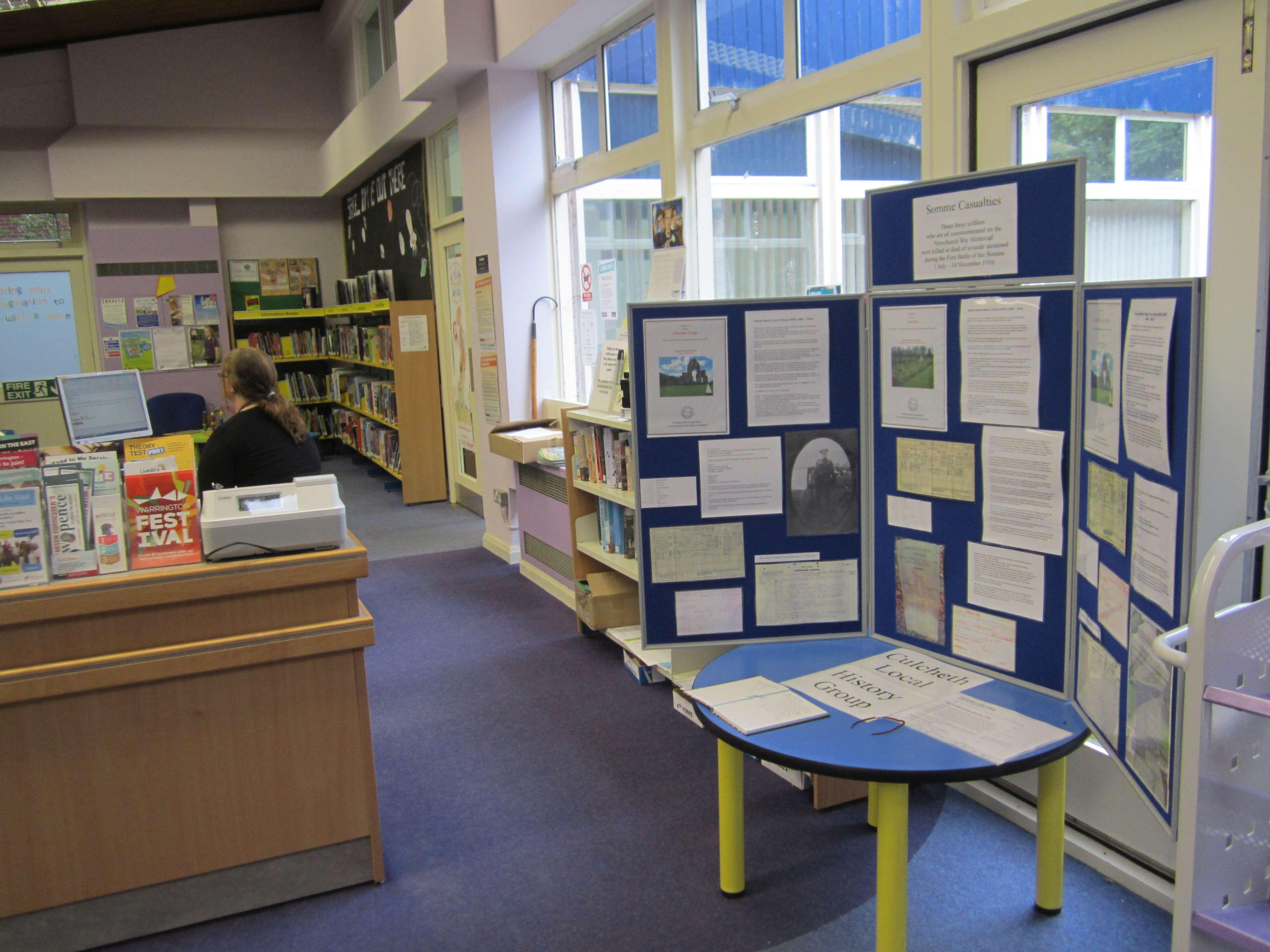 Somme Display in Culcheth Library