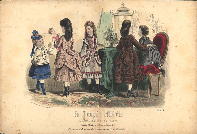 Fasiona plate girls 1870