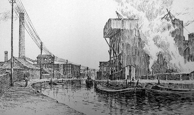 PD Taken from Charles Nicksons History of Runcorn published in 1887. It shows the Bridgewater Canal with Hazlehursts factory on the left and Johnsons640px Runcorn soapworks