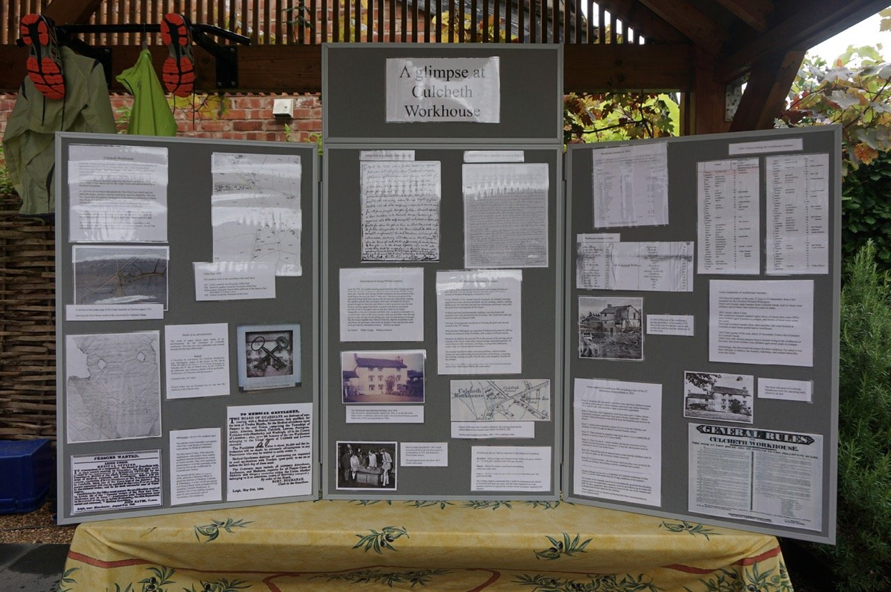 100 1 Culcheth Workhouse Display Board